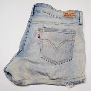 Levi's distressed shorts, junior size 13